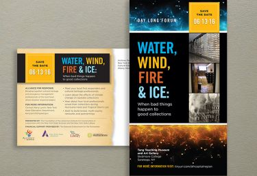 Wind, Fire and Water Program Postcard